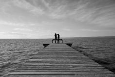 """Photo """"On the Lake"""" by Sanjin Jukic ( Jukic) has reached Popular on Railroad Tracks, Popular, Black And White, Style, Black White, Blanco Y Negro, Black N White, Stylus, Most Popular"""