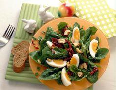 Spinatsalat mit Ei