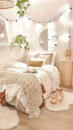 Bedroom Decor For Small Rooms, Cute Bedroom Decor, Room Design Bedroom, Room Ideas Bedroom, Teen Bedroom Designs, Bedroom Inspo, Dream Bedroom, Master Bedroom, Cozy Room
