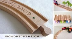 ch Personalized wooden train tracks and Brio Duplo Adapters. Wooden Train, Brio, Train Tracks, Special Gifts, Swarovski, Etsy Seller, Woodpeckers, Etsy Shop, Unique Jewelry