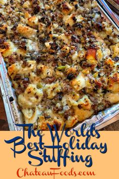 Stuffing Recipes For Thanksgiving, Thanksgiving Side Dishes, Holiday Recipes, Thanksgiving Holiday, Best Turkey Stuffing, Best Stuffing Recipe, Thanksgiving Desserts, Christmas Desserts, Christmas Recipes