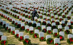 Wreaths Across America was started in 1992 at Arlington National Cemetery by Maine businessman Morrill Worcester and has expanded to hundreds of veterans' cemeteries and other locations in all 50 states and beyond.