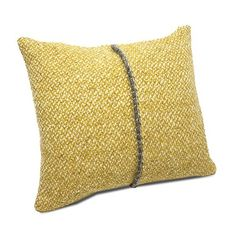 Teixidors Hydra cushion (155 CAD) ❤ liked on Polyvore featuring home, home decor, throw pillows, mustard throw pillow, modern throw pillows, modern home accessories, modern home decor and mustard yellow throw pillows