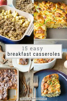 You don't want to miss these 15 Easy Breakfast Casserole Recipes! Find a list of the best breakfast casseroles. Simply pop these in the oven. Easy Breakfast Casserole Recipes, Best Brunch Recipes, Healthy Breakfast Recipes, Easy Recipes, Delicious Recipes, Favorite Recipes, Breakfast For A Crowd, Breakfast Ideas, Teacher Breakfast
