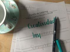 Little Hannah: Descargable: nueva plantilla de lettering con palabras bonitas
