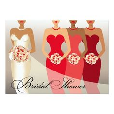 ETHNIC BRIDE Bridal Shower   red II Card