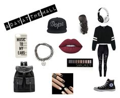 """""""Mall day"""" by fayha-k ❤ liked on Polyvore featuring WithChic, Converse, Lime Crime, Forever 21, Beats by Dr. Dre and Kate Spade"""