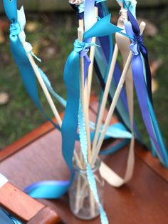 Homemade ribbon wands-perfect for a future little princess party