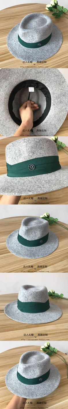 Wool, double  metal logo green wound ribbon decoration hearts with hat crown