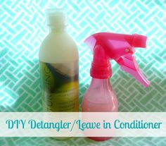 DIY detangling spray/leave in conditioner using stuff you have at home!   I've been using this forever and I LOVE it! I use it on myself and my little girl!