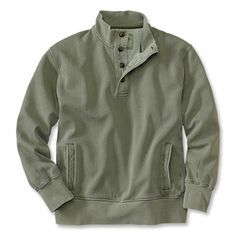 Just found this Mens Pullover Sweatshirt - Commanders Button-Neck Sweatshirt -- Orvis on Orvis.com!