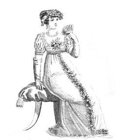 Regency History: Pre-Regency spring fashion - evening wear