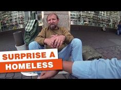 Three German students surprise a homeless guy - YouTube