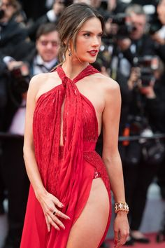 Alessandra Ambrosio basically staged her own one-woman runway at the Cannes Film Festival. Attending the premiere of Les Misérables on May the model Alessandra Ambrosio, Vs Models, Female Models, Hollywood Glamour, Hollywood Actresses, Fashion Models, Girl Fashion, Womens Fashion, Sexy Dresses