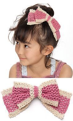 Crochet Hair Ribbon Pattern : ... Crochet bows on Pinterest Crochet bows, Bow pattern and Easy crochet