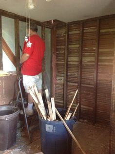 Next; the walls come down. Dirty work....