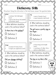 1st Grade Fantabulous: Honey Boo Boo and a Dictionary Skills Freebie