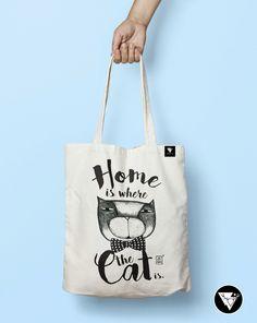 Home is...#cat #bag #illustration #design #drawing