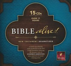 NLT Bible Alive New Test Dramatized Audio Bible 15 CD Set. If you perfer to listen to the Bible, this is great! See more at www.Gods-411.com