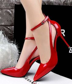 cm Hollow Out Buckle Pointed Toe European Style High Heel Pumps is well-designed. NewChic offers a wide range of cheap pumps shoes for women, like black pumps, white pumps, etc. Red High Heels, Lace Up Heels, High Heel Pumps, Pump Shoes, Shoe Boots, Shoes Heels, Red Shoes, Ankle Boots, Stilettos