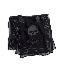 Harley-Davidson Womens Skull Scarf This is one of my faves Classic Harley Davidson, Harley Davidson Motorcycles, House Of Harley, Harley Gear, Harley Davison, Biker Gear, Skull Scarf, Riding Gear, Lady Biker