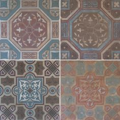SkimStone and Stencil Tile Floor in Florence