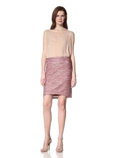 55% OFF ZAMRIE Women\'s Texapel Skirt with High-Low Hem (Red)