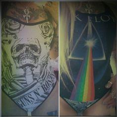 Gunsnroses & pink Floyd bodysuit up for listing heavy metal clothing  www.etsy.com/shop/chaosville