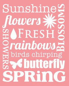 Free Spring Subway Art Printable