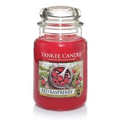 Large Jar Candle - Tangy sweet and full of nature's goodness, there is nothing quite as delicious as ripe, rosy red raspberries.