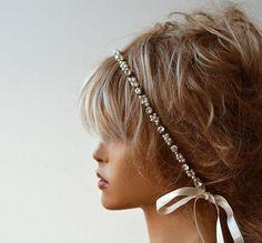 Perlen und Strass Stirnband Hochzeit Stirnband von ADbrdal auf Etsy