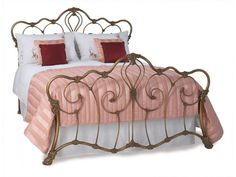 Dreams bed frame SuperKing Imagine this with all white bedding with frills and massive pillows 😍 Dreams Bed Frames, Dreams Beds, Baroque Bedroom, Wrought Iron Headboard, Bed Springs, Bedroom Themes, Bedrooms, Bedroom Ideas, Headboards