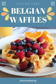 Crisp and golden brown Gluten Free Belgian Waffles… These lighter than air waffles are so good (no one has to know how easy the prep is!). These will be the breakfast waffles everyone will rave about. #glutenfreebread #glutenfreerecipes #glutenfreebreakfast Gluten Free Meal Plan, Gluten Free Baking, Gluten Free Recipes, Healthy Baking, Belgian Waffle Maker, Belgian Waffles, Waffle Recipes, Pancake Recipes, Breakfast Recipes