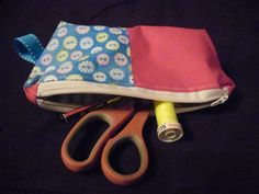 'what ever bag' (small) Small Pencil Case/ small cosmetic purse, lined