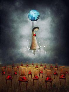 World Peace - Amanda Cass Art And Illustration, Land Art, Tom Bagshaw, Street Art, World Peace, Naive Art, Moon Art, Heart Art, Art Festival