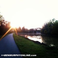 Sunrise on the Erie Canal, anyone? From last week's 14 mile run... (Be sure to hit up my site!  http://www.benmurphyonline.com) #parentathlete #fitfluential #f3 #beachbody #healthy #trailrunning #trailsroc #furtherfasterforever #neverstop #instarunners #wellness #weightloss #love #instagood #bestoftheday #photooftheday #instamood #igers #picoftheday #goodday #fitmotivation #roc #outside #flx #instafit #fitspiration #igdaily #tagsforlikes #fitness #beautiful #sunrise #rochester #eriecanal #ny