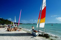 Windsurfers waiting to be put through their paces at Virginia Key