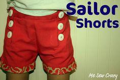 Sailor Shorts Tutorial... - The Girl Creative