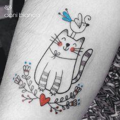 "Tatuagem feita pela querida  <a href=""http://instagram.com/dani.bianco_tattoo"">@dani.bianco_tattoo</a> -  Miau!"