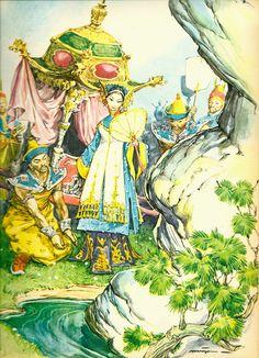 Illustration Maraja - Le Prince Tortue - Contes chinois (Editions Fabbri)