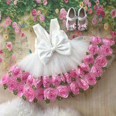 Harper Dress (White) - Baby Shop Online