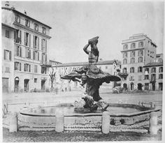Piazza Barberini 1867 Statue Of Liberty, Painting, Rome, Statue Of Liberty Facts, Painting Art, Paintings, Painted Canvas, Drawings
