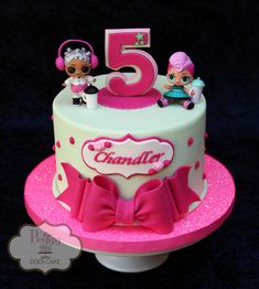 """""""LOL Suprise! Dolls"""" cake #lolsurprisedollcake #lolsurprisedollscake #lolsurprisecake #peggydoescake"""