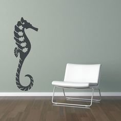 Giant Seahorse Wall Decal...