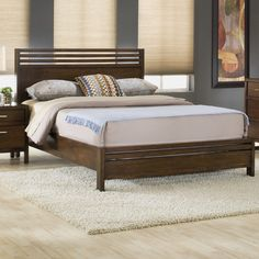 You'll love the De La Vega Panel Bed at AllModern - With Great Deals on modern Bedroom  products and Free Shipping on most stuff, even the big stuff.