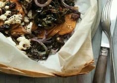 Sweet potatoes, chard and shiitake