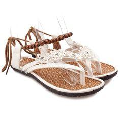 Trendy Beading and Flowers Design Women's SandalsSandals | RoseGal.com