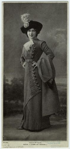Nenelle (Mlle. Sylvie). 1910. From NYPL Digital Collection.