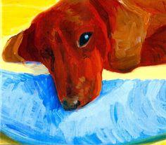 David Hockney, Dog Days, 1996.