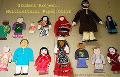 Multicultural Paper Dolls- display for International week.